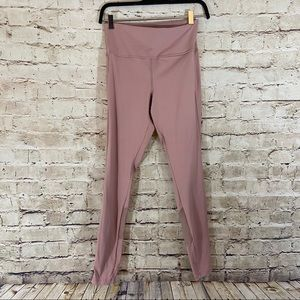 Dusty pink high rise active leggings size small